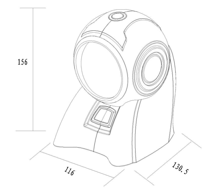 手绘产品尺寸设计图